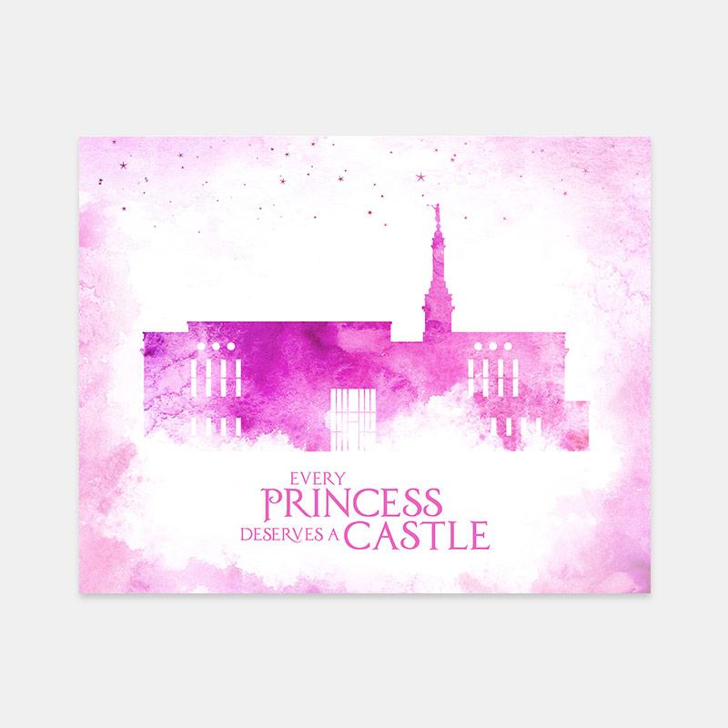 Anchorage Temple – Princess Castle Print