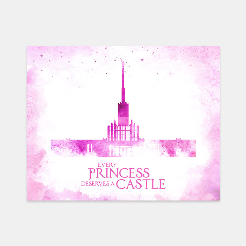 Atlanta Temple – Princess Castle Print