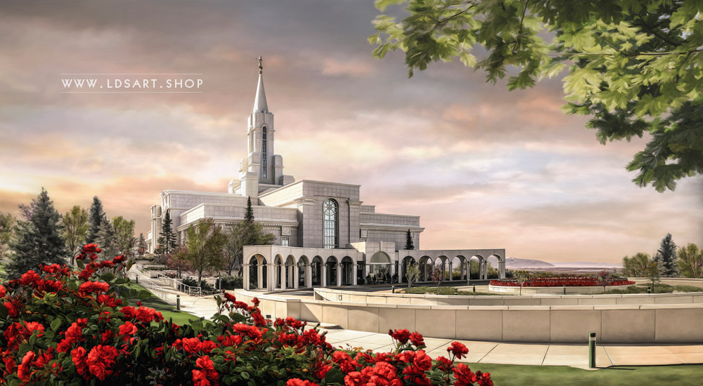 Bountiful Temple – Summer Sunrise Painting Print