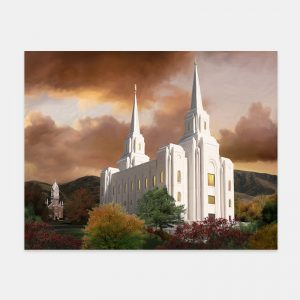 brigham-city-temple-painting-autumn-sunset