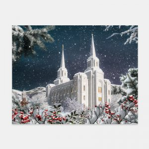 brigham-city-temple-painting-winter-wonderland