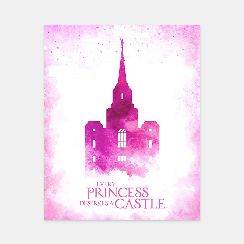 Brigham City Temple – Princess Castle Print