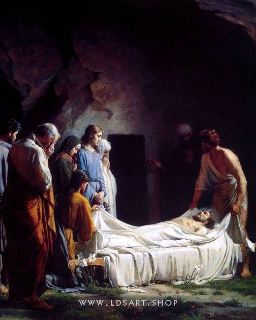 Burial of Christ – Painting by Carl Bloch Print