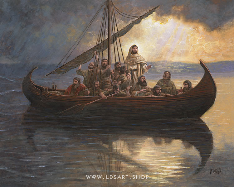 Calming The Storm – Painting by Jon McNaughton Print