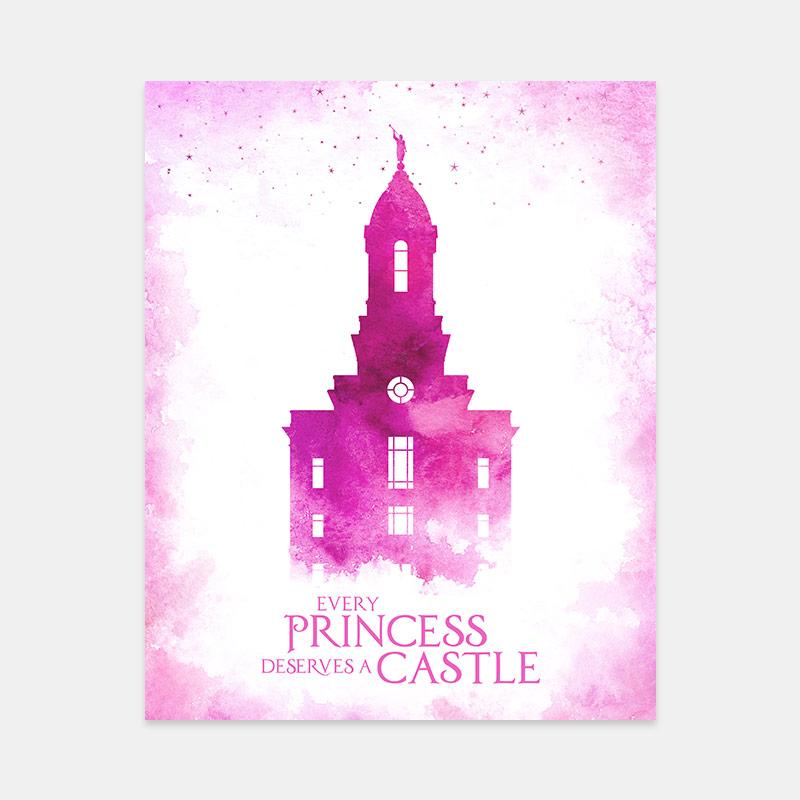 Cedar City Temple – Princess Castle Print