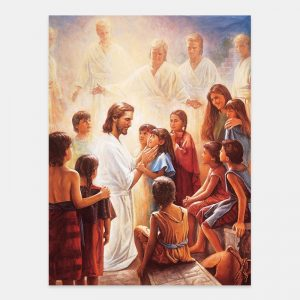 christ-and-the-nephite-children-painting-by-del-parson