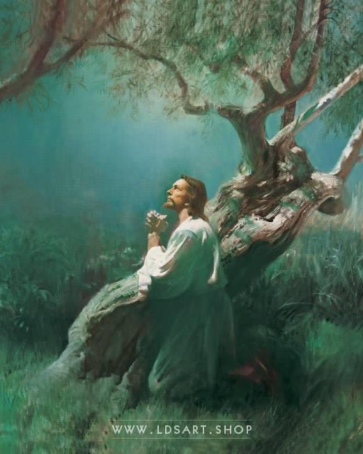 Jesus Christ – Christ in Gethsemane Painting Print