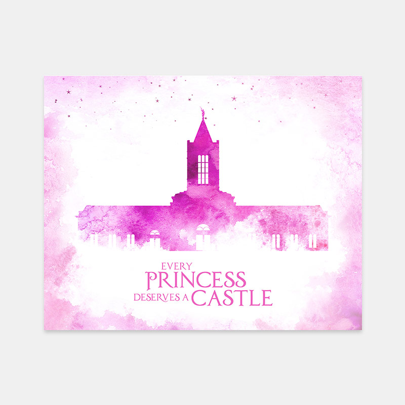 Fort Collins Temple – Princess Castle Print