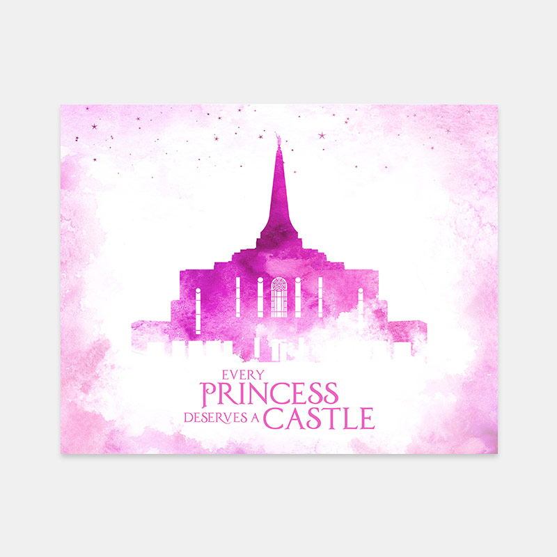 Gilbert Temple – Princess Castle Print