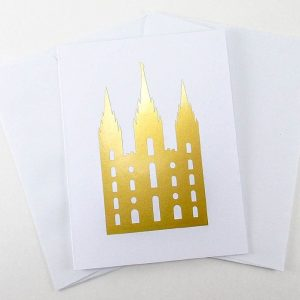 gold-foil-silhouette-temple-greeting-note-cards