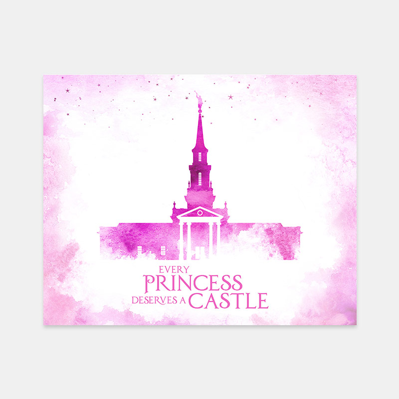 Hartford Temple – Princess Castle Print