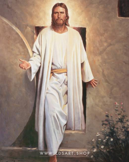 He Is Risen – Painting by Del Parson Print