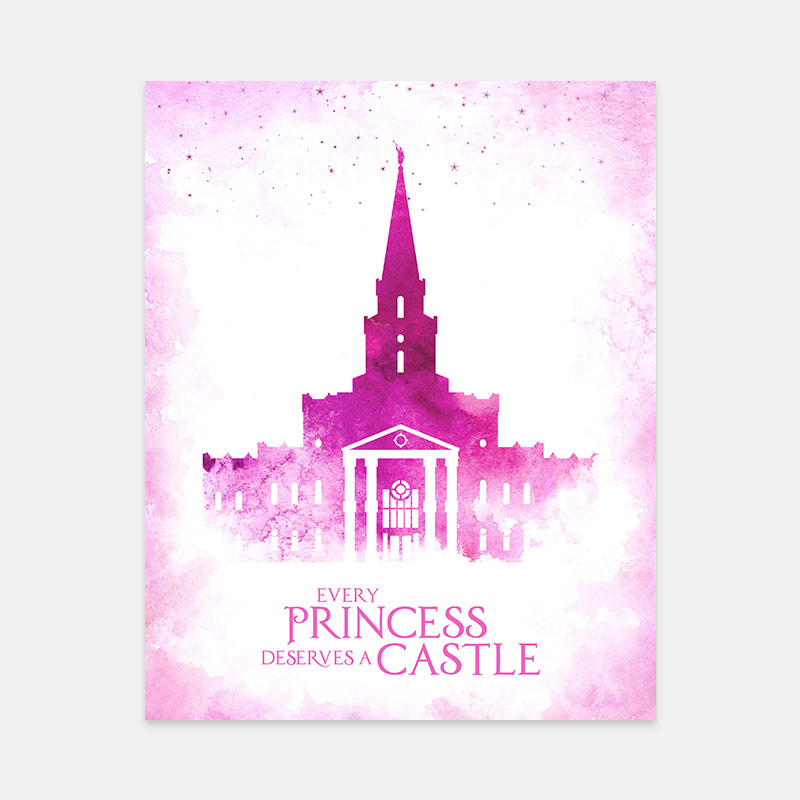 Houston Temple – Princess Castle Print