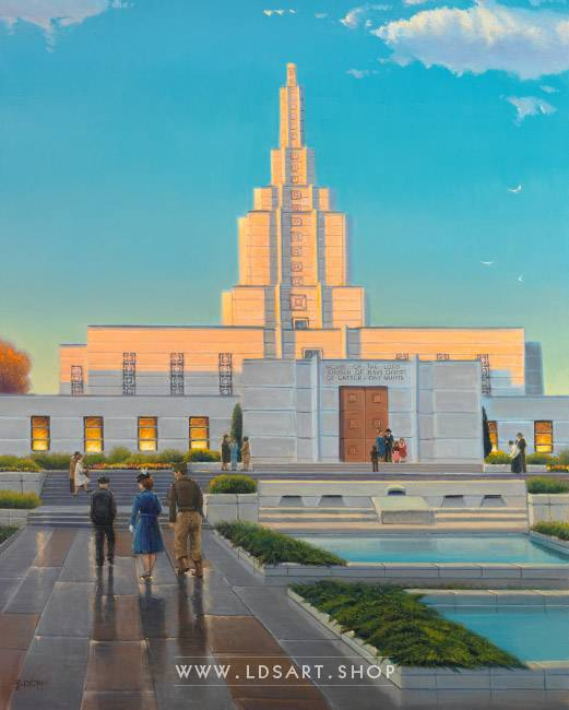 Idaho Falls Temple – Fine Art Historical Painting Print