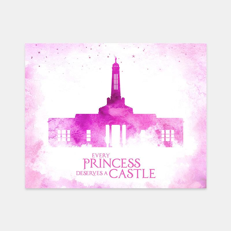 Indianapolis Temple – Princess Castle Print