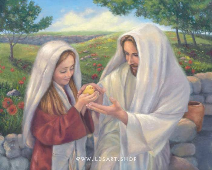 Jesus Christ – All Creatures Great and Small Painting Print