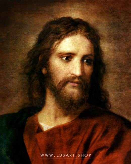Christ at 33 – Painting by Heinrich Hofmann Print