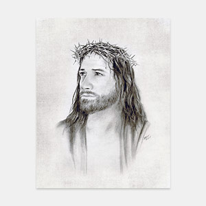 Jesus Christ - Crown of Thorns Painting by Brent Borup