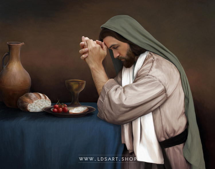 Jesus Christ – Daily Bread Painting Print