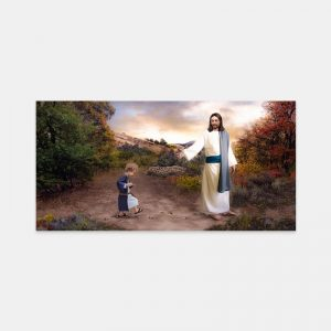 jesus-christ-following-in-his-footsteps-panoramic-painting-by-brent-borup