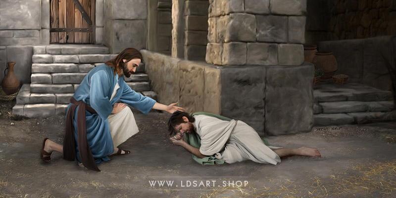 Jesus Christ – Forgiveness Painting Print