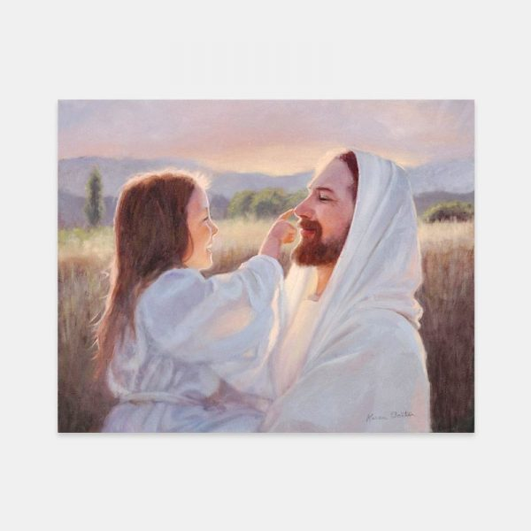 jesus-christ-gentle-touch-painting-by-karen-foster