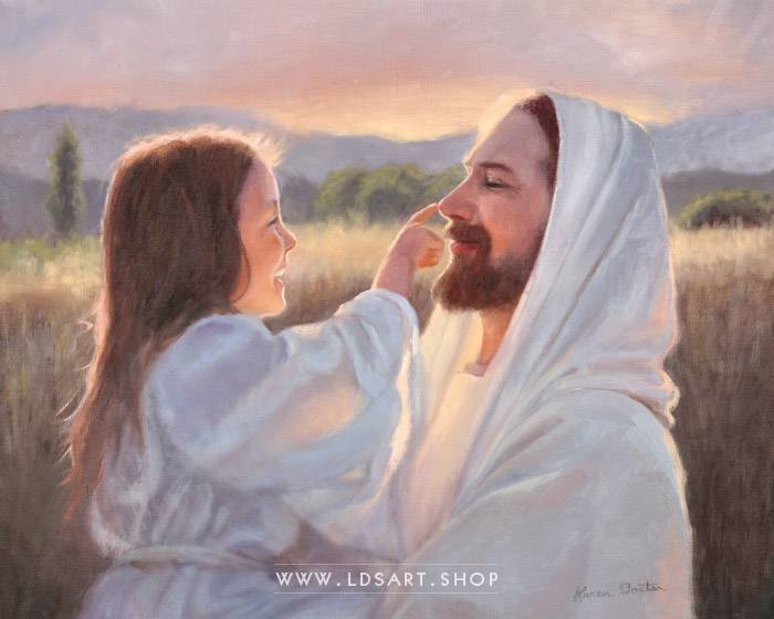 Jesus Christ – Gentle Touch Painting Print
