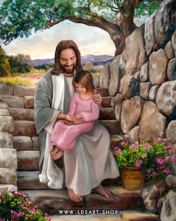 Jesus Christ – His Hands – Painting Print