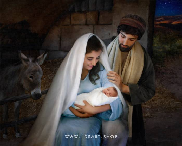 Jesus Christ – Nativity Painting Print