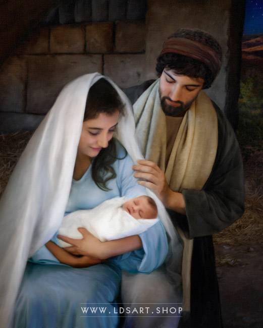 Jesus Christ – Nativity Painting Vertical Print