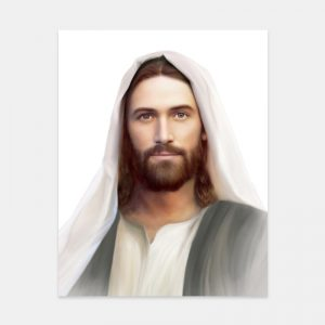jesus-christ-painting-resurrection-and-the-life-by-brent-borup-white-background
