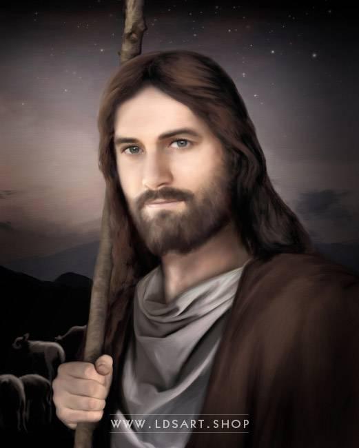 Jesus Christ – Vigilant Shepherd – Painting Print