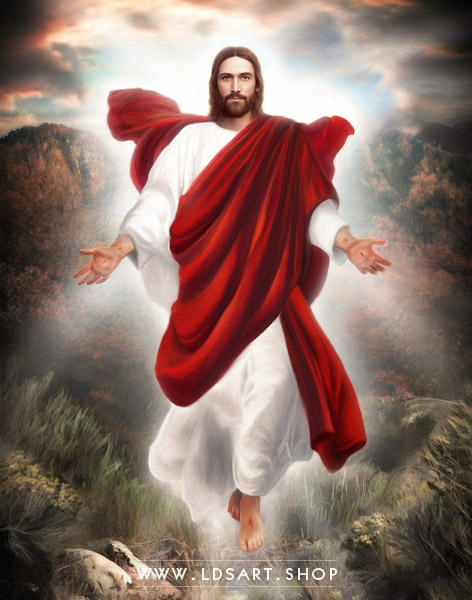 Jesus Christ – Second Coming Painting Print