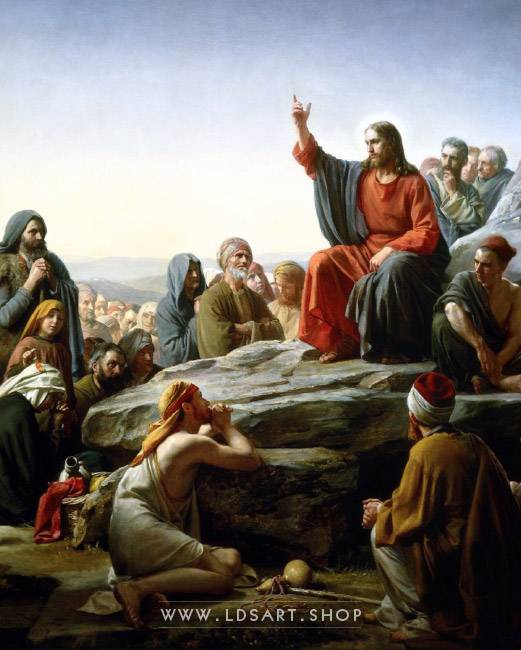Christ's Sermon on the Mount – Painting by Carl Bloch Print