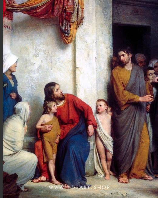 Suffer the Children – Painting by Carl Bloch Print