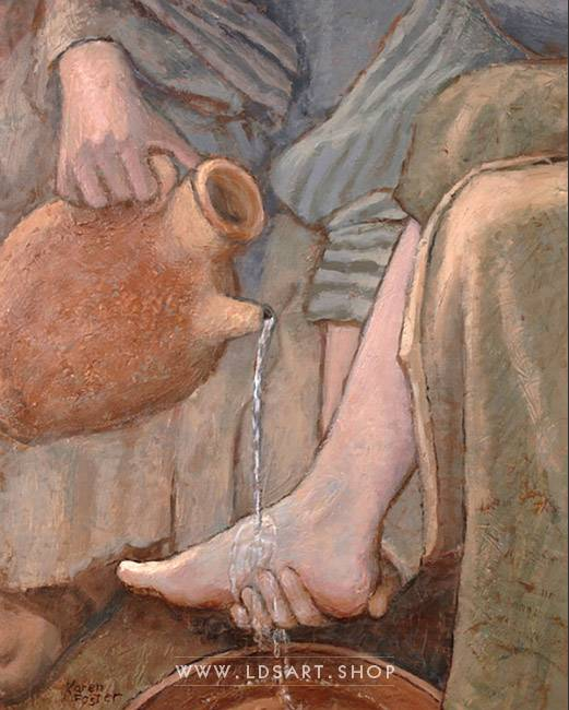Jesus Christ – Washing The Feet Painting Print