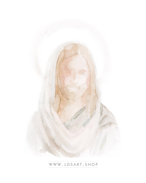 Jesus Christ – Watercolor Painting Print