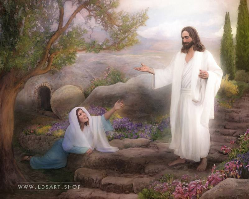 Jesus Christ – Whom Seekest Thou Painting Print