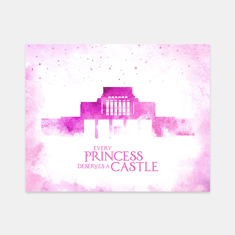 Laie Temple – Princess Castle Print