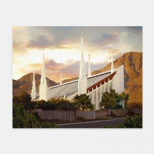 las-vegas-temple-painting-summer-sunset