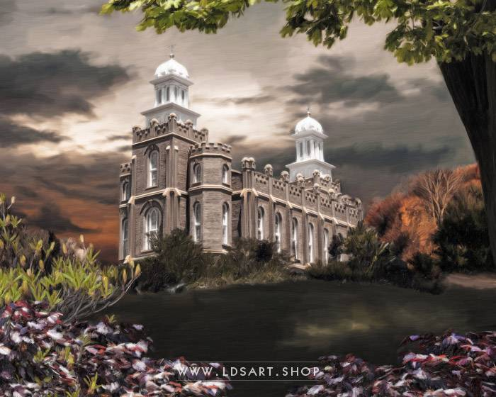 Logan Temple – Light In The Storm Painting Print