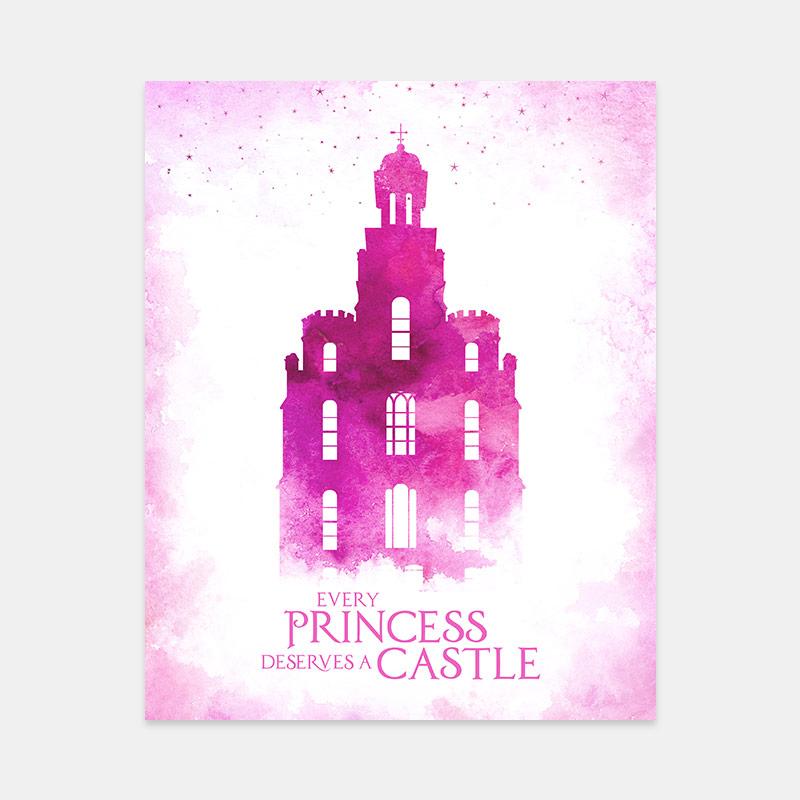 Logan Temple – Princess Castle Print
