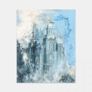 logan-temple-winter-fine-art-cold-wax-oil-painting