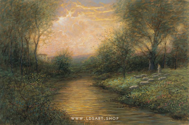The Lord Is My Shepherd – Painting by Jon McNaughton Print
