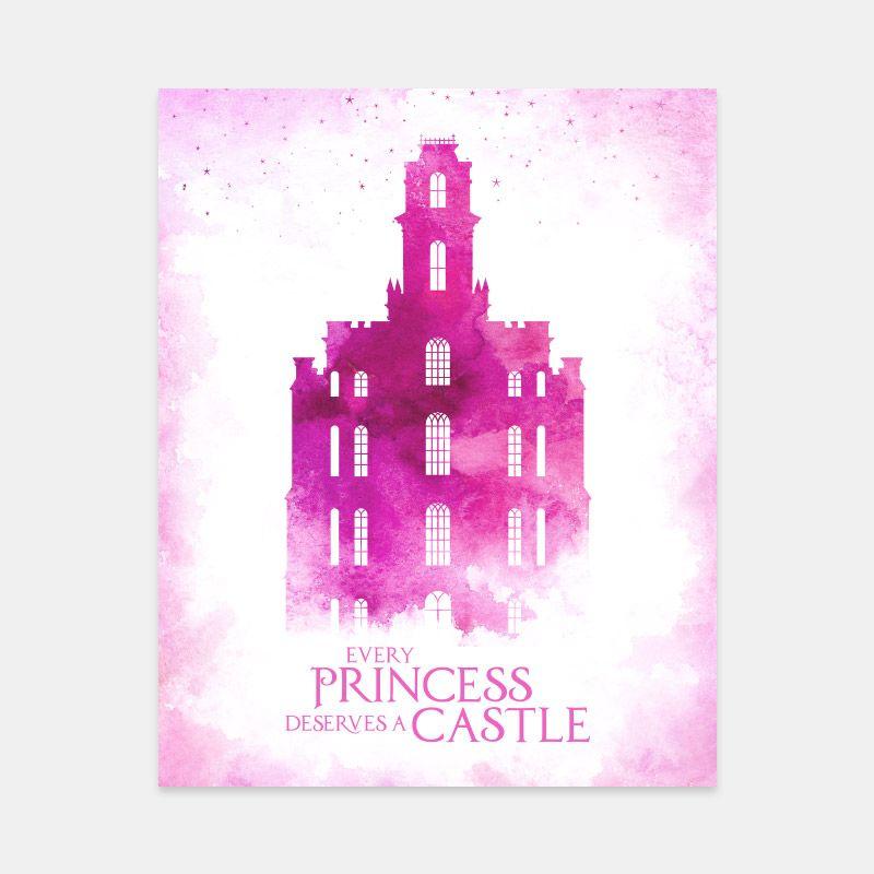 Manti Temple – Princess Castle Print