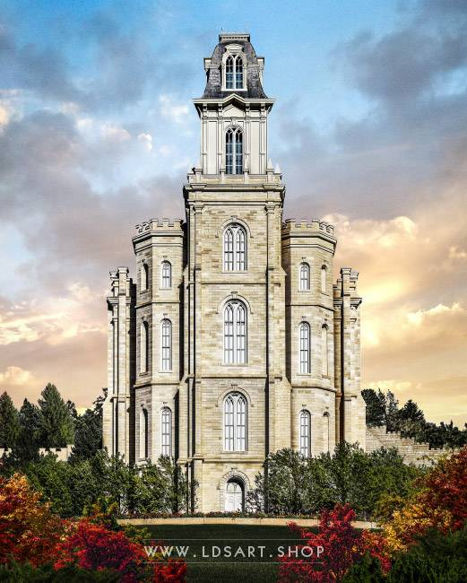 Manti Temple – Tower of the Lord Painting Print