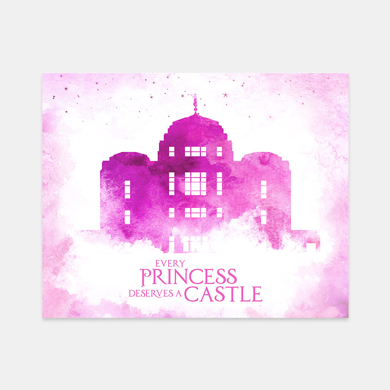 Meridian Temple – Princess Castle Print