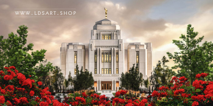 Meridian Temple – Sunrise Painting Print