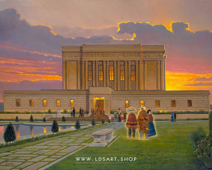 Mesa Temple – Fine Art Historical Painting Print