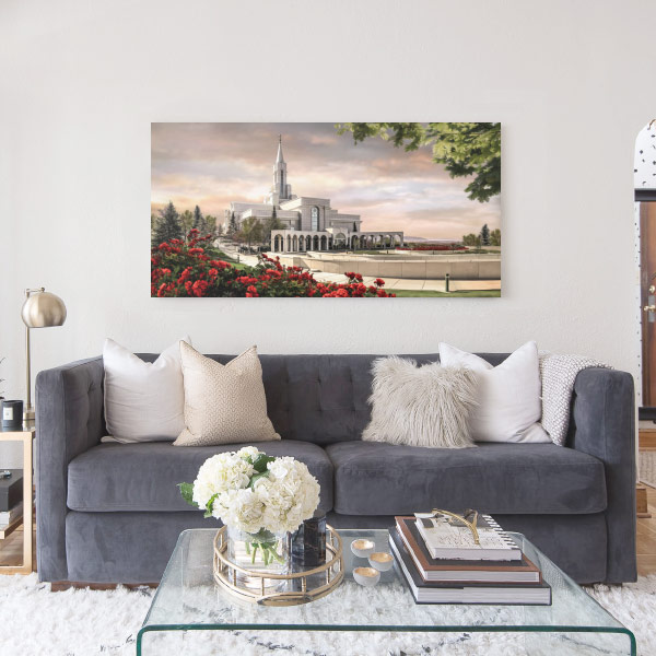 Bountiful Temple – Summer Sunrise Painting Mockup